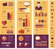 Социальный шаблон Infographic средств массовой информации Стоковые Изображения