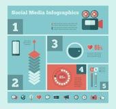 Социальный шаблон Infographic средств массовой информации Стоковое Изображение