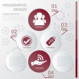 Социальный шаблон Infographic средств массовой информации Стоковая Фотография