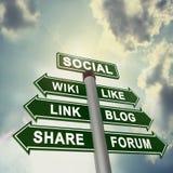 Социальный шильдик Стоковые Изображения