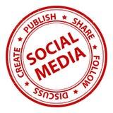 Социальный штемпель средств массовой информации Стоковые Изображения