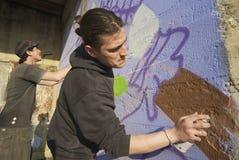сочинители надписи на стенах Стоковые Фотографии RF