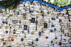 Сочинительства о кофе с ` где кофе, там счастье ` и ` там час чая? Я англичанин? ` в Turkish стоковая фотография rf