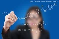сочинительство азиатской повелительницы формулы дела научное Стоковая Фотография RF