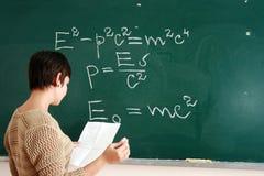 сочинительство женщины формулы Стоковые Фотографии RF