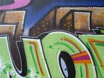 сочинительство надписи на стенах стоковое изображение rf