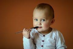 сочинительство письма ребёнка Стоковое Изображение RF