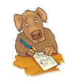 сочинительство письма собаки иллюстрация штока