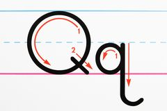 сочинительство практики алфавита Стоковое фото RF