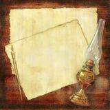 сочинительство сбора винограда масла светильника коллажа Стоковые Изображения RF
