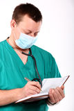 сочинительство стетоскопа доктора медицинское стоковые фото