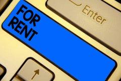 Сочинительство текста почерка для ренты Смысл концепции когда вы сделаете свойство доступный для покупать временно ключ i клавиат стоковое фото