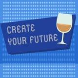 Сочинительство текста почерка создает ваше будущее Цели цели и карьеры смысла концепции установленные планируют вперед достигают  иллюстрация штока
