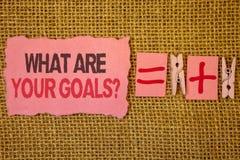 Сочинительство текста почерка что ваш вопрос о целей Смысл концепции спрашивая кто-то о его жизни целится мешки джута плюс 2 p Стоковая Фотография