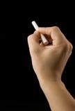 сочинительство черной руки мелка мыжское Стоковое Фото
