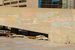 Сочинительства на стене Стоковые Фото