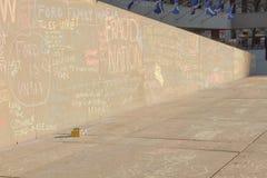 Сочинительства на стене Стоковые Изображения RF