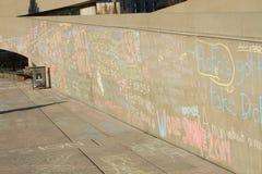 Сочинительства на стене Стоковое Фото