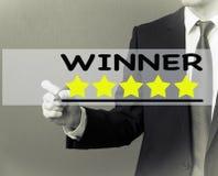 Сочинительство бизнесмена - звезды оценки победителя Стоковые Фотографии RF
