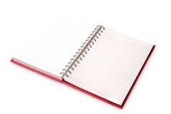сочинительство ленты раздела золотистой тетради зажима книги красное Стоковые Изображения