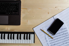 Сочинительство музыки Стоковые Фото