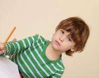 Сочинительство ребенка, школьное образование Стоковое Фото