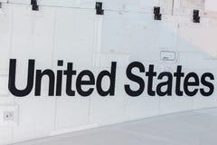 Сочинительство Соединенных Штатов на космическом летательном аппарате многоразового использования Стоковые Изображения