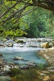 Сочи, река Agura, около выхода сероводорода скачет Стоковые Изображения