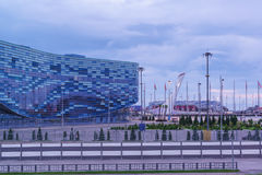 Сочи, Россия - 11-ое июня 2017: здание дворца льда спорт Стоковое Фото