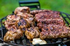 Сочная говядина филея на решетке Стоковая Фотография