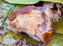 Сочное мясо свинины сваренное на гриле Традиционная кухня Испании Стоковая Фотография
