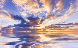 Сочное небо захода солнца Стоковые Изображения RF