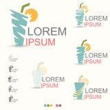 Сочное питье логотипа лета - вектора Стоковые Изображения