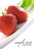 сочные красные клубники сладостные Стоковое фото RF