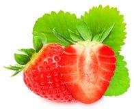Сочные красные stravberries изолированные на белой предпосылке Стоковое фото RF