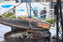 сочные ломтики мяса Стоковое фото RF