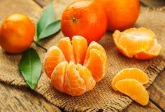 Сочные сладостные мандарины Стоковые Фотографии RF