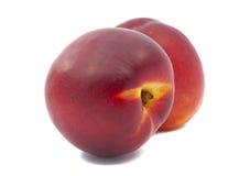 Сочный изолированный персик Стоковое Фото