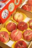 сочный персик Стоковое Изображение