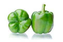2 сочных зеленых перца Стоковые Изображения