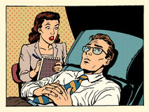 Сочувствие психолога женское терпеливое мужское Стоковое фото RF