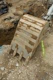 Сошник экскаватора на канаве - строить canalization Стоковое фото RF