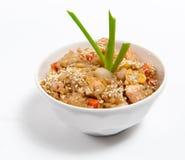 соя продуктов моря соуса зажаренного риса Стоковое Фото