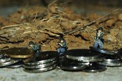 3 солдата заманивать в поле брани Стоковое Изображение