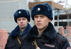 Солдаты внутренних войск MIA России Стоковое Изображение RF