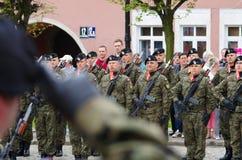 Солдаты во время Дня независимости Стоковая Фотография RF