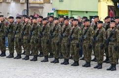 Солдаты во время Дня независимости Стоковое Изображение RF