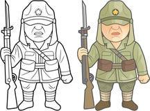 Солдаты Второй Мировой Войны японской армии Стоковое Фото