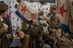 Солдаты Красной Армии на Militalia 2013 в милане, Италии Стоковое фото RF