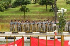 Солдаты на государственных похоронах Лее Куан Ыеш в Сингапуре Стоковая Фотография RF